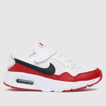 Nike White & Red Air Max Sc Unisex Junior