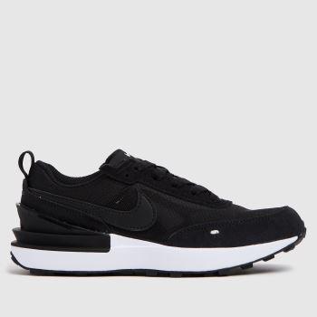 Nike Black & White Waffle One Unisex Junior