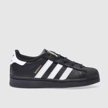 Adidas Black & White SUPERSTAR Unisex Junior