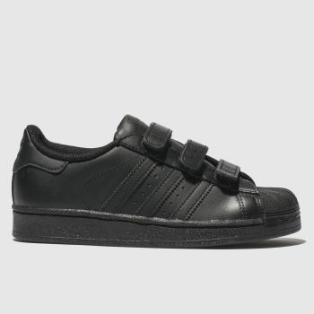 adidas black superstar foundation trainers junior