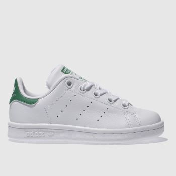 sports shoes be2b6 bc152 Adidas White   Green Stan Smith Unisex Junior