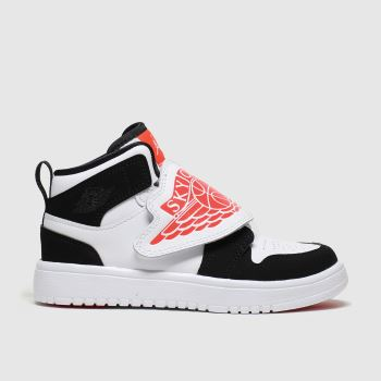 Nike Jordan White & Black Sky 1 Jnr Unisex Junior