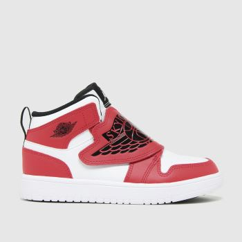 Nike Jordan white & red sky jordan 1 trainers junior
