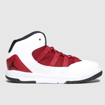 Nike Jordan White & Red Max Aura Unisex Junior#