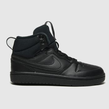 Nike Black Court Borough Mid 2 Unisex Junior#