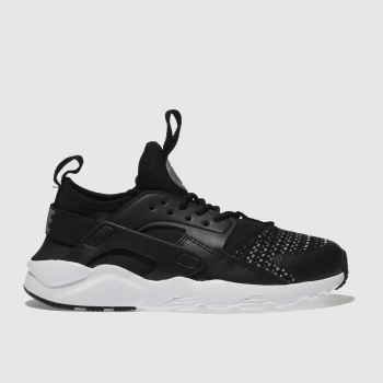Nike Black & White Huarache Run Ultra Se Unisex Junior