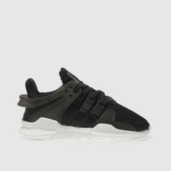 ADIDAS BLACK EQT SUPPORT ADV TRAINERS JUNIOR