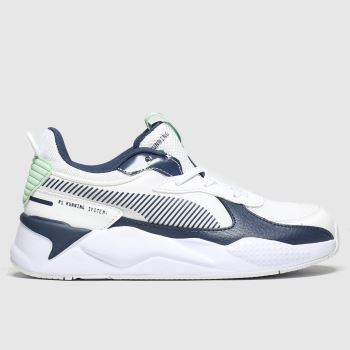 Puma White & Navy Rs-x Joy Unisex Junior