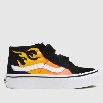 Vans black & orange sk8-mid reissue v trainers junior