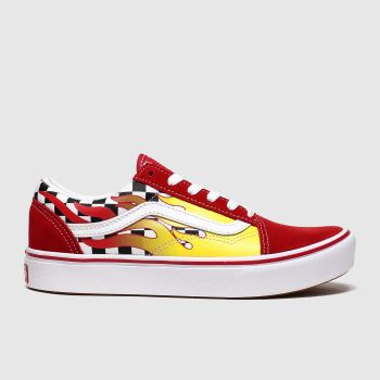 Vans Red Comfycush Old Skool Unisex Junior