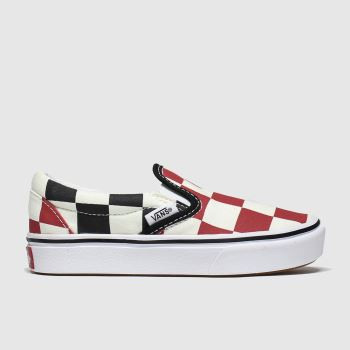 Vans Black & Red Comfycush Slip-on Unisex Junior