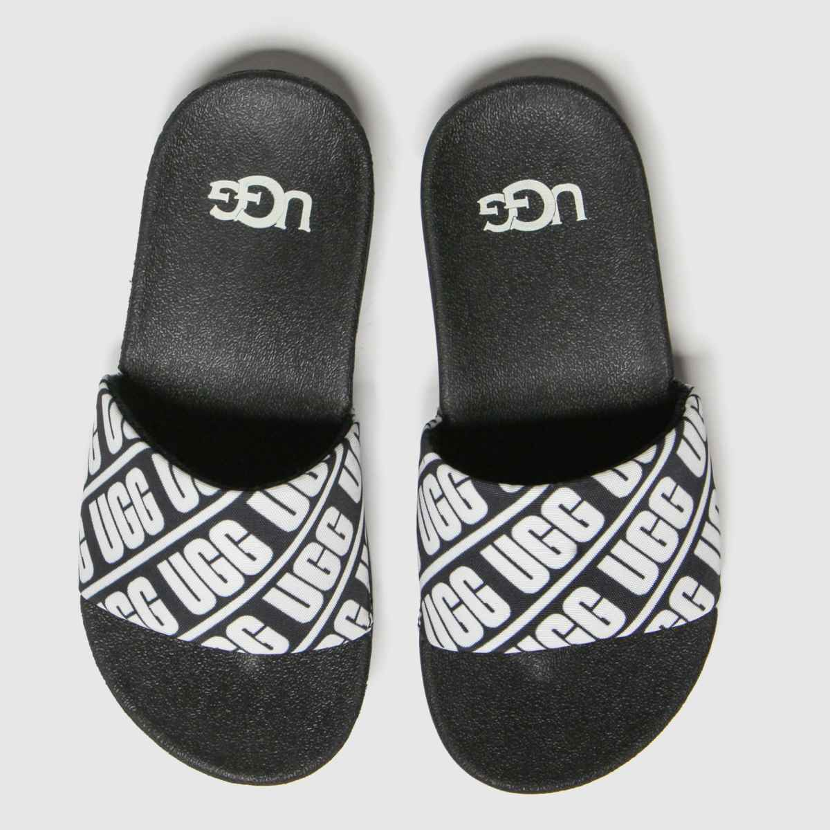 Ugg Black & White Beach Slide Trainers Junior