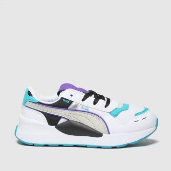 PUMA White & Green Rs 2.0 Futura Unisex Junior