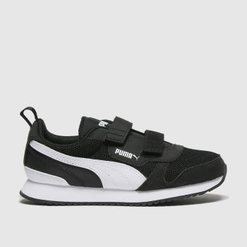 PUMA Black & White R78 V Unisex Junior