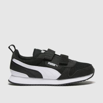 PUMA Black & White R78 V Unisex Junior#
