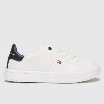 Tommy Hilfiger White & Navy Low Cut Lace-up Sneaker Unisex Junior