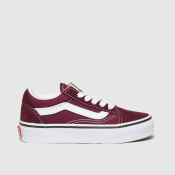Vans Burgundy Old Skool Unisex Junior