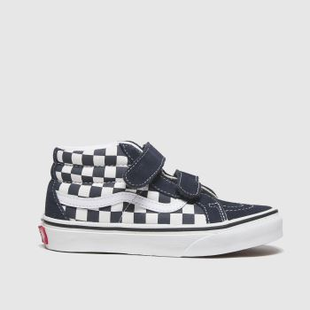 Vans White & Navy Sk8-mid Reissue V Unisex Junior