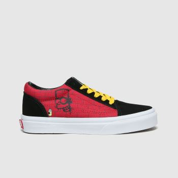 Vans Black & Red Old Skool Simpsons Unisex Junior