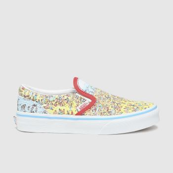 Vans Multi Classic Slip-on Wheres Waldo Unisex Junior