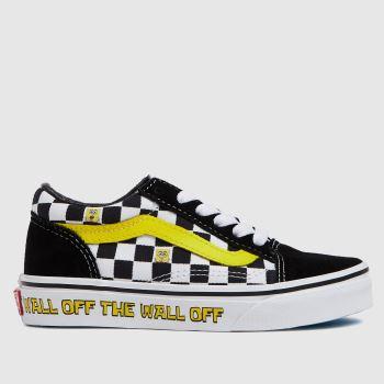 Vans Black & White Spongebob Old Skool Unisex Junior