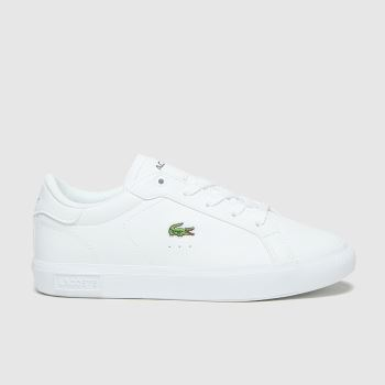 Lacoste White Powercourt Unisex Junior