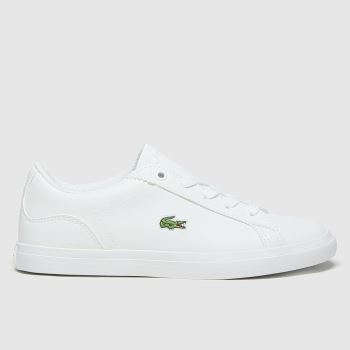 Lacoste White & Green Lerond Unisex Junior