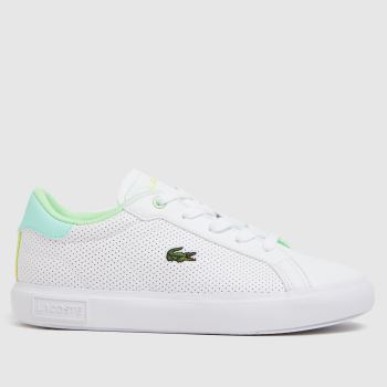 Lacoste White & Green Powercourt Unisex Junior