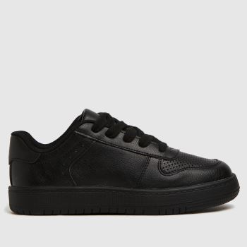 schuh Black Mighty Lace Up Unisex Junior