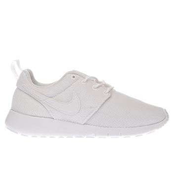 new product 3749f 5ab5b NIKE WHITE ROSHE ONE TRAINERS YOUTH