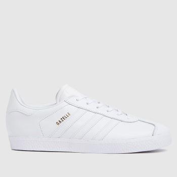 adidas White Gazelle Unisex Youth