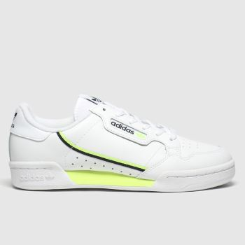 Adidas White & Green Continental 80 Unisex Youth
