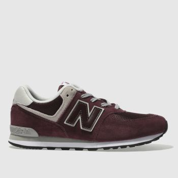 New Balance Burgundy 574 Unisex Youth