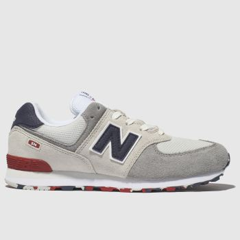 New Balance Light Grey 574 Unisex Youth