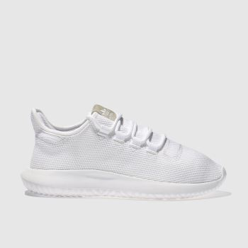 Adidas White Tubular Shadow Unisex Youth