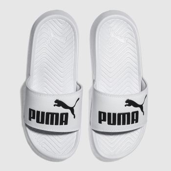 Puma White Popcat Unisex Youth