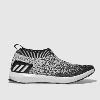 ADIDAS BLACK & WHITE RAPIDARUN TRAINERS YOUTH