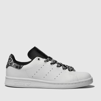Adidas White & Black Stan Smith Unisex Youth