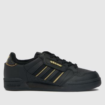adidas Black Continental 80 Stripe Unisex Youth