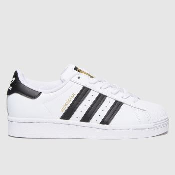 adidas White & Black Superstar Unisex Youth