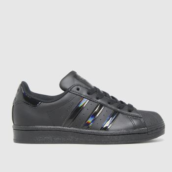 adidas black superstar trainers youth