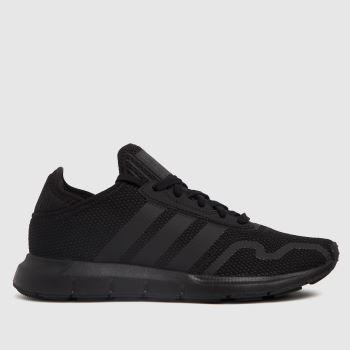 adidas Black Swift Run X Unisex Youth
