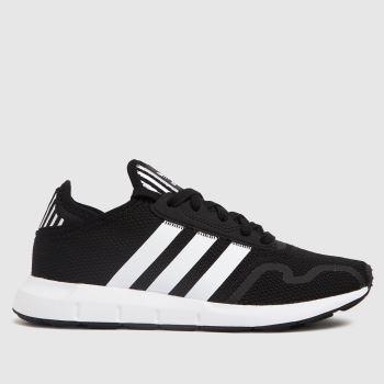 adidas Black & White Adi Swift Run X Unisex Youth