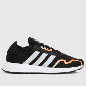 adidas Black & Silver Swift Run X Unisex Youth