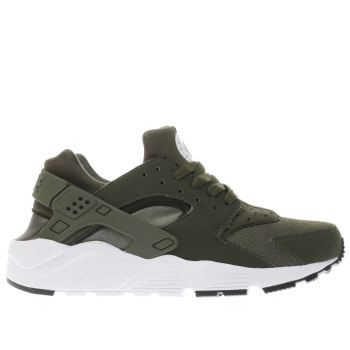 NIKE KHAKI HUARACHE RUN YOUTH TRAINERS