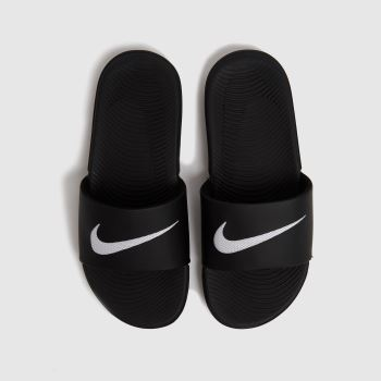 Nike Black & White KAWA SLIDE Unisex Youth