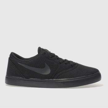 NIKE SB BLACK CHECK CANVAS TRAINERS YOUTH
