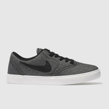 NIKE SB BLACK & GREY CHECK TRAINERS YOUTH