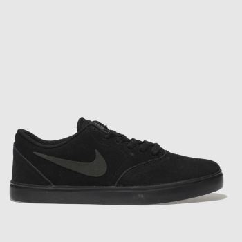 NIKE SB BLACK CHECK SUEDE TRAINERS YOUTH