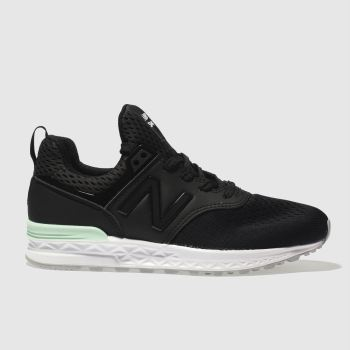 New Balance Black 574 Sport Unisex Youth